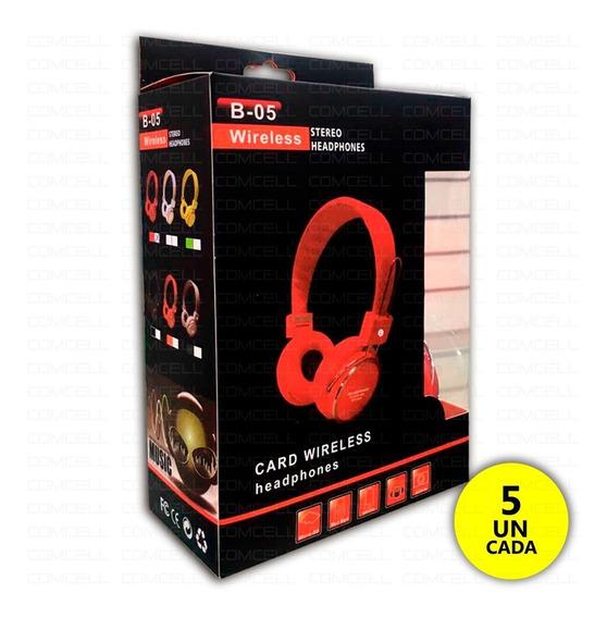 5 Fone De Ouvido Headphone Bluetooth B05 P2 Cartão Atacado
