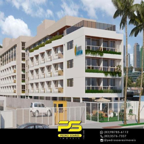 Imagem 1 de 10 de Flat Com 1 Dormitório À Venda, 44 M² Por R$ 365.000 - Cabo Branco - João Pessoa/pb - Fl0114