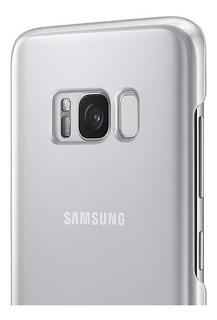 Funda Samsung Clear Cover Galaxy S8+ Original Silver