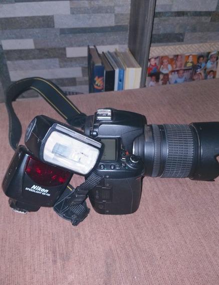 Camera Nikon D 90 Lente Abertura 18 X105 Flex Nikon Sb 700