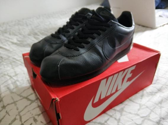 Nike Cortez Leather Triple Black