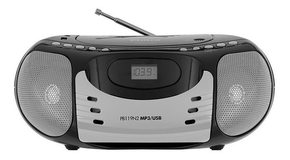 Som Portátil Philco Com Cd Player Rádio Fm Mp3 Usb 5w Rms