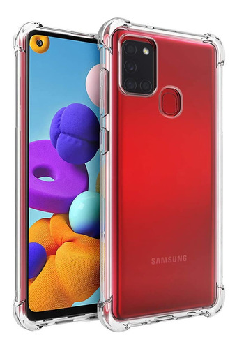 Funda Clear Alto Impacto + Film Hydrogel Samsung Galaxy A21s