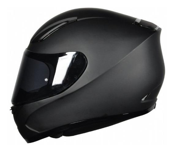 Capacete Motoqueiro Mt Revenge Solid Matt Black Motociclista