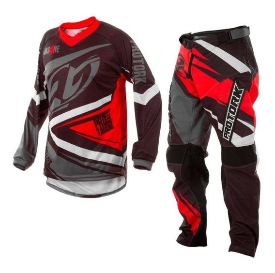 Conjunto Motocross Atv Enduro Pro Tork Insane 4 Rojo Rpm1240