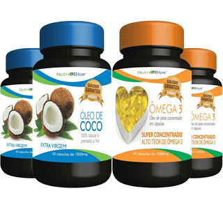 Kit 2 Óleo De Coco 2 Omega3 - Omega 3 - Nutriblue