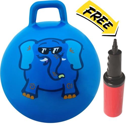 Imagen 1 de 8 de Pelota Para Saltar Rebotadora Waliki Toys, Azul, Azul