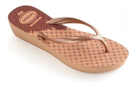 Chinelos Havaianas High Light Ii Nude Salmão Anabelinha 2019
