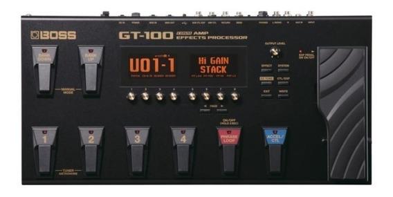 Pedaleira Boss Guitarra Gt-100 Com Fonte Bivolt