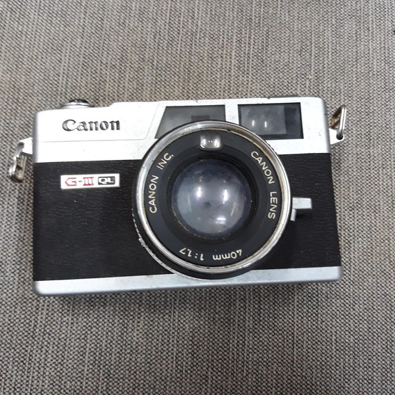 Câmera Analogica Canon Canonet Gl17 G-iii Ql 40mm Antiga