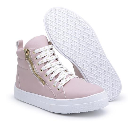 Tênis Sneaker Feminino Barato Botinha Casual Oferta Ref20
