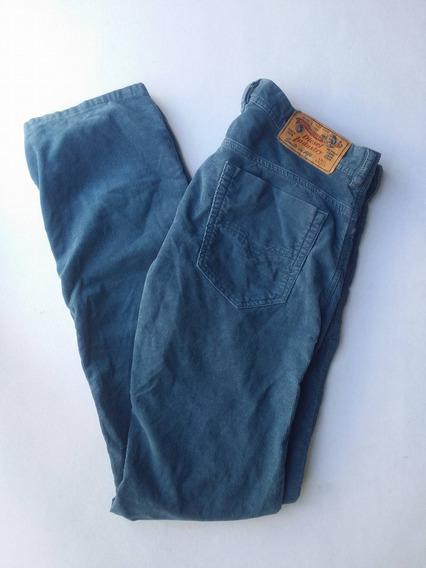 Pantalon Diesel Safado A Slim-skinny 32x32 Azul Uso Pana