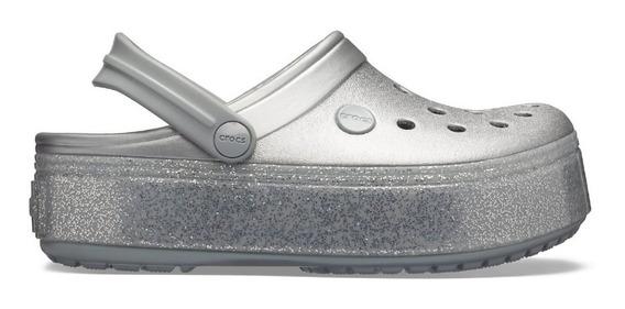 Crocs Plataforma Suecos Crocband Metallic - Originales