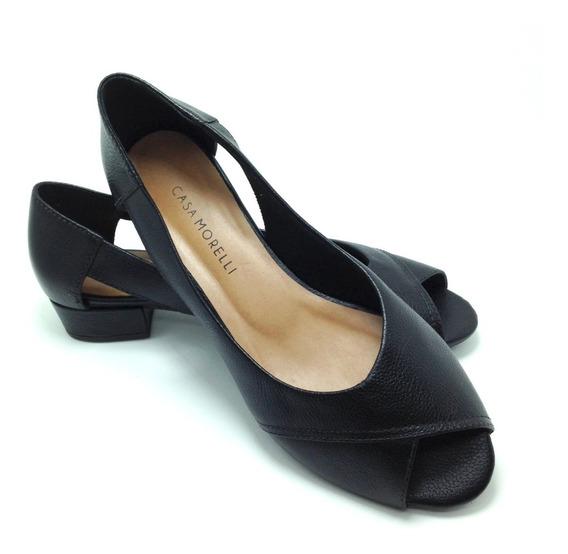 Sapato Peep Too Com Saltinho 2 Cm Couro Legitimo 25300