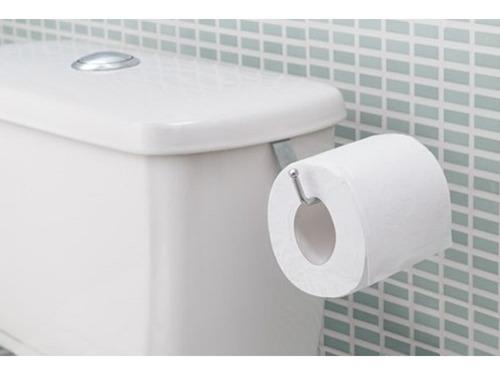 Suporte Porta Papel Higiênico P/ Caixa De Descarga Acoplada Aço Cromado Banheiro Lavado Encaixar Encaixe Com Nota Fiscal