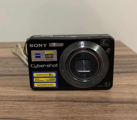 Câmera Digital Sony Cybershot Dsc-w130 8.1 Megapixels Preta