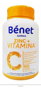 Vitamina C Y Zinc Benet Gomas - Uni - Unidad a $333