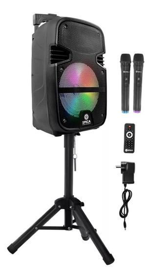 Parlante Portátil Spica Bluetooth Micrófono Tripode S/i