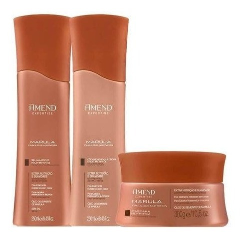 Kit Amend Marula: Shampoo+cond+mascara ( 3 Produtos )