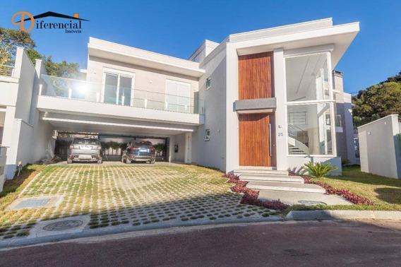 Casa Com 5 Dormitórios À Venda, 425 M² Por R$ 4.000.000,00 - Santa Felicidade - Curitiba/pr - Ca0172