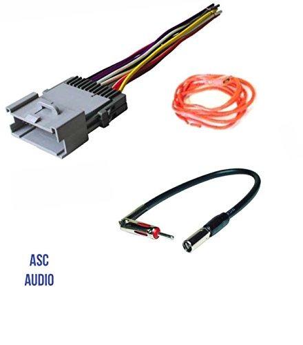 Asc Audio Car Stereo Wire Harness Y Adaptador De Antena Par on