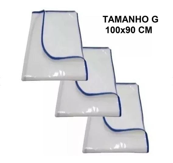 3 Fraudas Lavaveis Tapete Kit Promoção 100x90 Cm Xixi Fácil