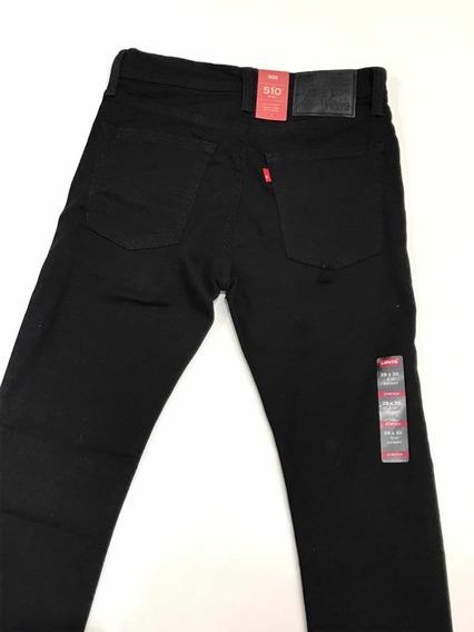Pantalón Levis De Hombre Modelo 510 Skinny Negro