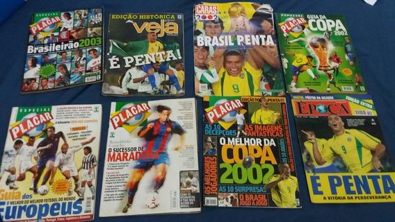 Revistas Placar/veja E Época - Especial Copa Do Mundo 2002