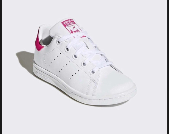 Tenis Adida Stan Smith Rosa/blanco Niña Original