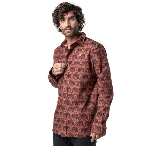 Camisa Hombre Haka Honu Lazlocalifornia Terracota I19