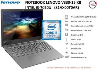 Notebook Lenovo V330-15ikb I3-7020u 4gb 1tb 15,6 81ax00t0ar