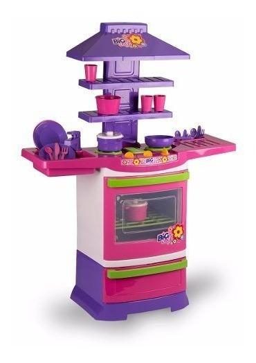 Cozinha Infantil Fogãozinho Master Fogão Big Chef Menina