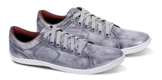 Sapatênis Sapato Casual Bmbrasil Couro Palmilha Gel Forrado