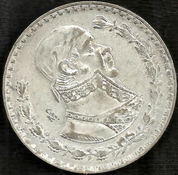 Mexico 1960 1 Peso Moneda De Plata L6319