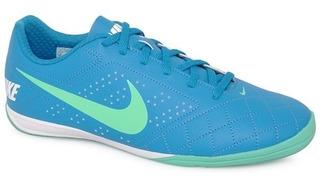 Tenis Nike Masculino Futsal Beco 2 Azul Verde Original
