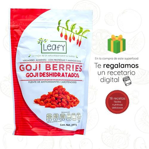 Imagen 1 de 8 de Duo Goji Berries Bayas De Goji Orgánicas Leafy 250g