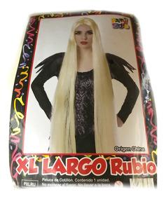 Peluca Xl Largo Rubio - Fiesta & Eventos- La Golosineria