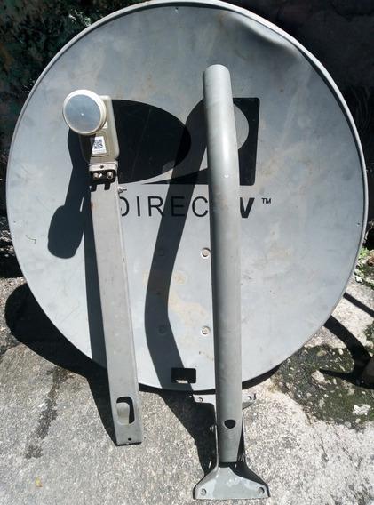 Antena Directv Usada Foco Lnb Gris Hd Coaxial, 17$.