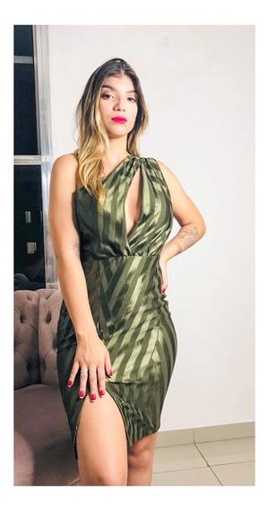 Vestido Acetinado Verde