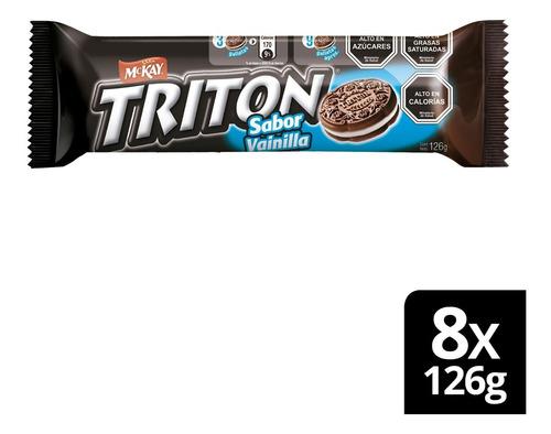 Galleta Sandwich Triton® Vainilla 126g X8 Unidades