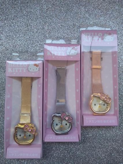 Reloj De Hello Kitty En Color Dorado