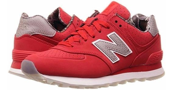 new balance mujer rojas 574