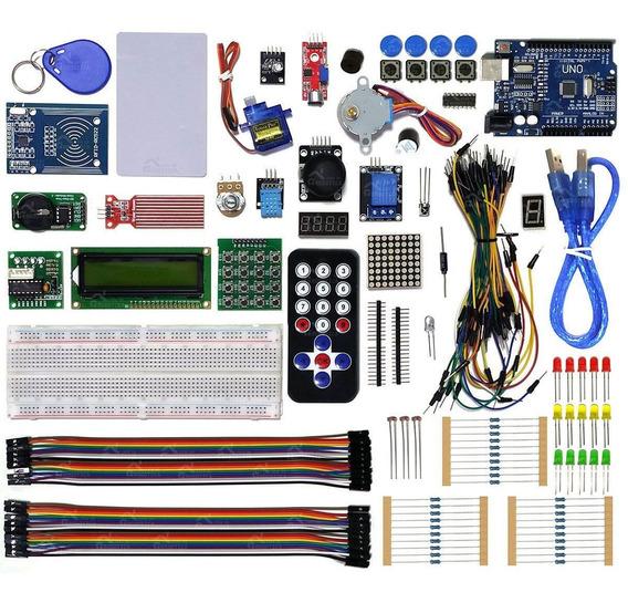 Kit Robótica Placa Uno C/ Tutorial Para Arduino + 200 Pcs Nf