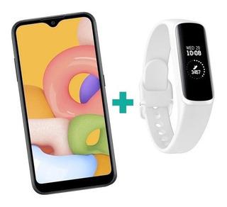 Samsung Galaxy A01 32gb + Smartwhatch Fit-e Branco (brinde)