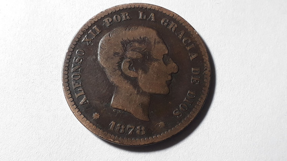 Moneda España 5 Céntimos, 1878 Cobre Lote 397