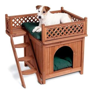 Zoovilla Casa Parra Perro Con Escalera Y Vista Raza Pequeña