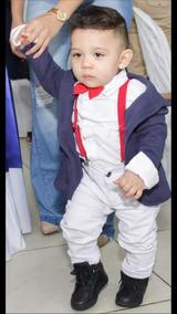 Camisa Social Branca Blazer Moleton Kit Suspensório Calça