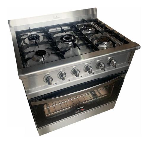 Cocina Industrial Fornax Versatil 5 Hornallas 86cm. Visor