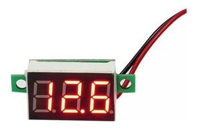 20 Mini Voltímetro Digital 0v~30v Carro Bateria Frete Barato