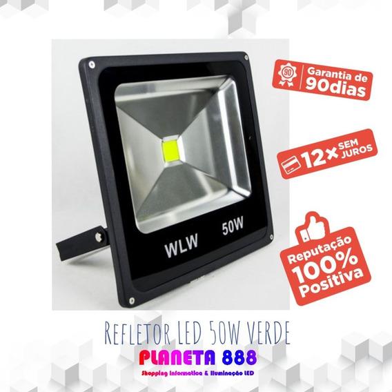 Refletor De Led 50w Luz Verde Ip66